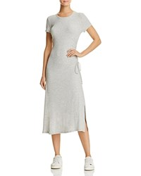 Theory Jilaena Midi T Shirt Dress Frosted Gray