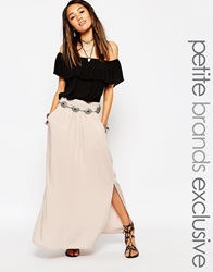 New Look Petite Pleat Front Maxi Skirt