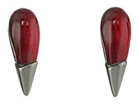 Alexis Bittar Liquid Metal Capped Spike Post Earrings Black Cherry Earring Burgundy