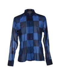 Dirk Bikkembergs Sport Couture Shirts Shirts Men Dark Blue