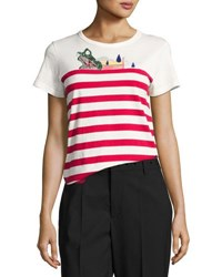 Marc Jacobs Sequin Embellished Classic Tee Red