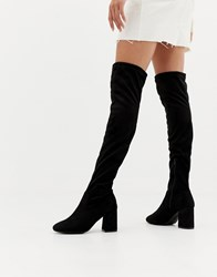 Pimkie Heeled Over The Knee Boot Black