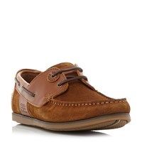 Barbour Capstan Eyelet Lace Up Boat Shoes Tan