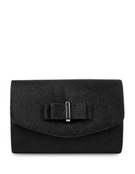 Jessica Mcclintock Alexis Bow Mini Flap Convertible Clutch Black