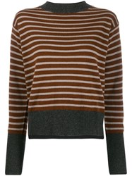 Sofie D'hoore Striped Knit Sweater Brown