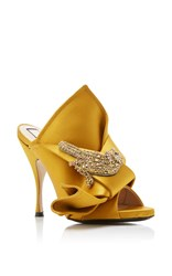 N 21 No. Satin Knot Mule Yellow