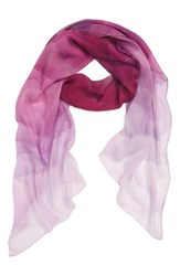 Nordstrom Women's Prismatic Color Play Oblong Silk Scarf Red Combo