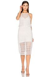 Line And Dot Daiguiri Halter Dress White