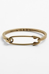 Giles And Brother Safety Pin Cuff Bracelet Metallic