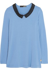 Love Moschino Embellished Jersey Top