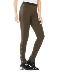 Bcbgmaxazria Dominick Snap Sided Leggings Hunter Green