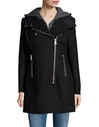 Marc New York Faux Leather Trim Jacket Black