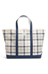 Barbour Kirkwall Plaid Tote Beige Summer Tartan