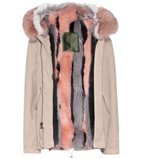 Mr And Mrs Italy Fur Lined Cotton Coat Beige