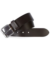 Carhartt Dark Brown Script Leather Belt