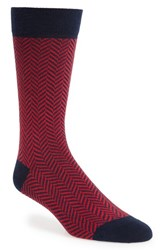 Ted Baker London Ronimow Herringbone Socks Red