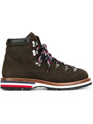Moncler 'Peak' Ankle Boots Brown