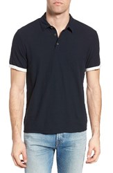 James Perse Men's Contrast Band Polo Mariner Ice Cream