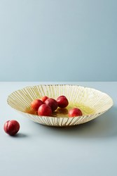 Anthropologie Sunstruck Serving Bowl Gold