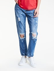 Maison Scotch Ripped Boyfriend Jeans Denim