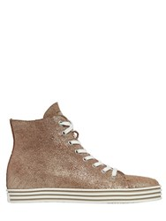 Hogan Rebel 50Mm Metallic Suede Sneakers