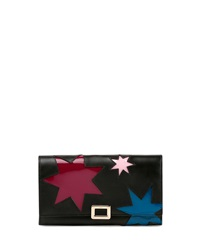 Mini Buckle Wallet W Stars Graphic Black Multi Roger Vivier