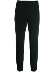 Peserico Cropped Slim Fit Trousers Black