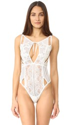 For Love And Lemons Bordeaux Lace Bodysuit Ivory