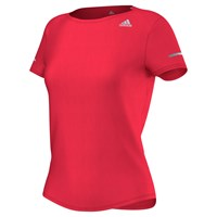 Adidas Short Sleeve Running T Shirt Red