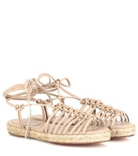 Chloe Leather Espadrille Sandals Neutrals