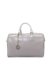 Charles Jourdan Dalton Smooth Leather Satchel Bag Gray