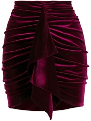 Alexandre Vauthier Velvet Ruched Mini Skirt 60