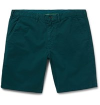 Paul Smith Ps By Slim Fit Stretch Cotton Twill Shorts Emerald