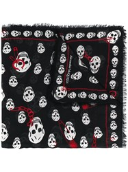 Alexander Mcqueen Chained Skull Scarf Black