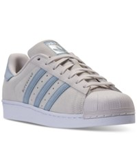 Adidas Men's Superstar Casual Sneakers From Finish Line Pearl Grey Tactile Blue