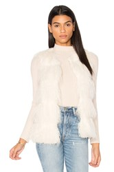 Unreal Fur Malibu Dream Faux Vest Ivory