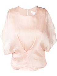 Genny Cut Out Detail Blouse Nude And Neutrals
