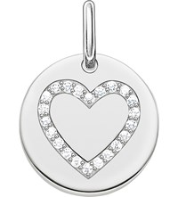 Thomas Sabo Love Coin Engravable Sterling Silver Heart Pendant