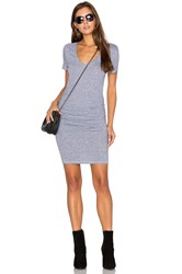 Lanston Ruched T Shirt Dress Grey