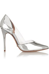Schutz Emanu Metallic Patent Leather And Pvc Pumps