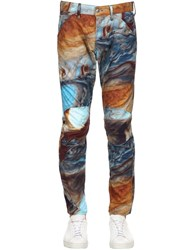 G Star By Pharrell Williams Elwood Printed Tapered Denim Jeans Multicolor