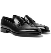 Tom Ford Wessex Leather Penny Loafers Black