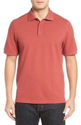 Nordstrom Men's Big And Tall Men's Shop 'Classic' Regular Fit Oxford Pique Polo Red Brick Oxford