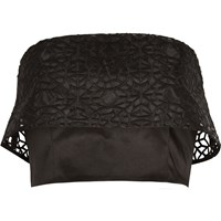 River Island Womens Black Organza Overlay Bandeau Crop Top