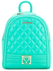 Love Moschino Quilted Backpack Women Polyurethane One Size Green