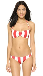 Solid And Striped The Chloe Bikini Top Red And White Stripe