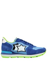 Atlantic Stars Antares Suede And Nylon Running Sneakers Blue