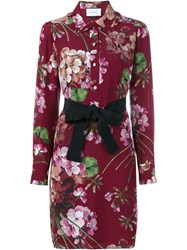 Gucci Floral Print Dress Pink And Purple