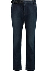 Brunello Cucinelli Embellished Mid Rise Straight Leg Jeans
