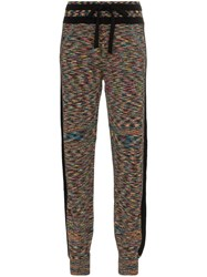 Missoni Cashmere Zig Zag Track Trousers Multicolour